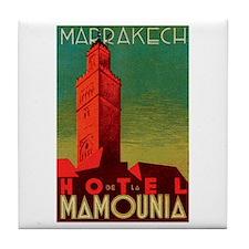 Marrakech Morocco Tile Coaster