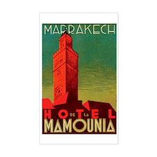 Marrakech Morocco Rectangle Decal