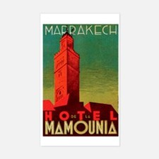 Marrakech Morocco Rectangle Decal