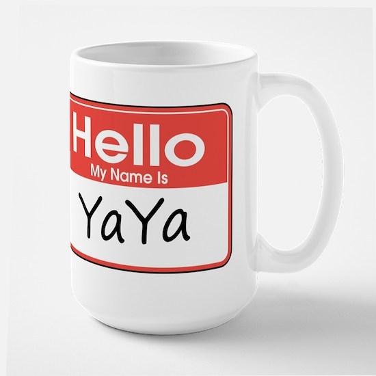 Hello, My name is YaYa Large Mug