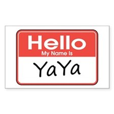 Hello, My name is YaYa Rectangle Bumper Stickers