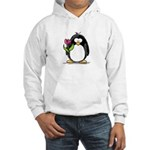 Penguin with a Tulip Hooded Sweatshirt