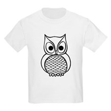 Black and White Owl 1 T-Shirt