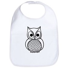 Black and White Owl 1 Bib
