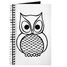 Black and White Owl 1 Journal