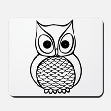 Black and White Owl 1 Mousepad
