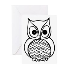 Black and White Owl 1 Greeting Card