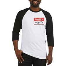 Hello, My name is YiaYia Baseball Jersey