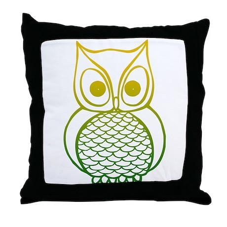 Color Owl 1 Throw Pillow
