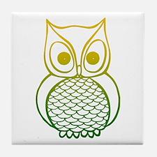 Color Owl 1 Tile Coaster