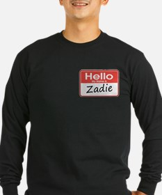 Hello, My name is Zadie T