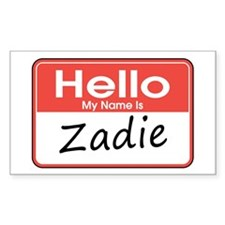 Hello, My name is Zadie Rectangle Decal
