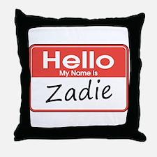Hello, My name is Zadie Throw Pillow
