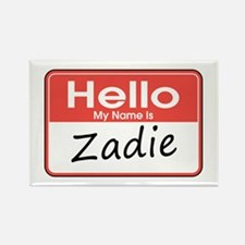 Hello, My name is Zadie Rectangle Magnet