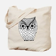 Black and White Owl 2 Tote Bag