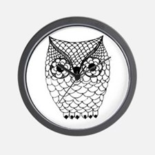 Black and White Owl 2 Wall Clock