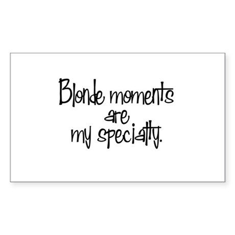 Blonde Moments Rectangle Sticker