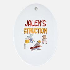 Jalen's Construction Co. Oval Ornament