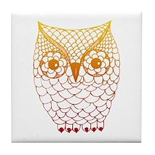 Color Owl 2 Tile Coaster