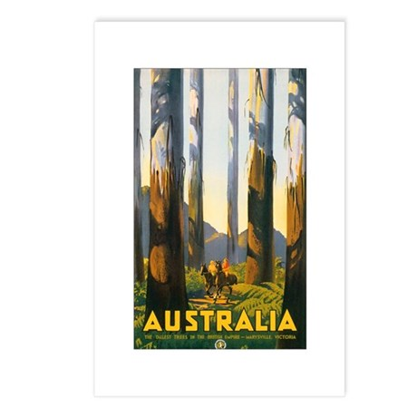 Australia Travel Postcards (Package of 8)