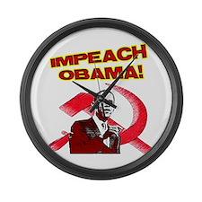 Unique Impeach obama Large Wall Clock