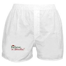 Believe in Miracles (Santa) Boxer Shorts