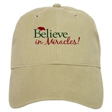 Believe in Miracles (Santa) Baseball Cap