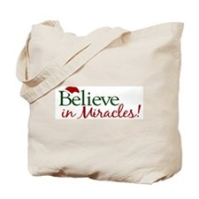 Believe in Miracles (Santa) Tote Bag