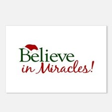 Believe in Miracles (Santa) Postcards (Package of