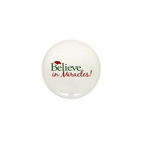 Believe in Miracles (Santa) Mini Button