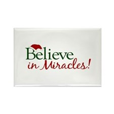 Believe in Miracles (Santa) Rectangle Magnet
