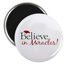 Believe in Miracles (Santa) Magnet