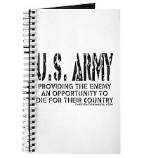 U.S. ARMY Providing Enemy Journal