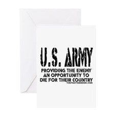 U.S. ARMY Providing Enemy Greeting Card