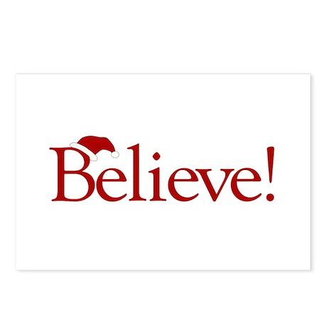 Believe (Santa Claus) Postcards (Package of 8)
