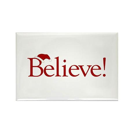 Believe (Santa Claus) Rectangle Magnet