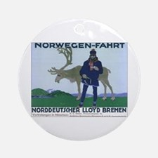 Norway Travel Keepsake (Round)