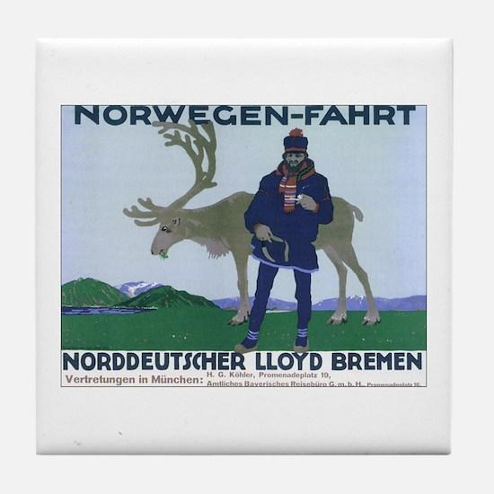 Norway Travel Tile Coaster