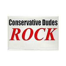 Dudes Rock Rectangle Magnet