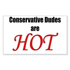 Dudes Hot Rectangle Decal