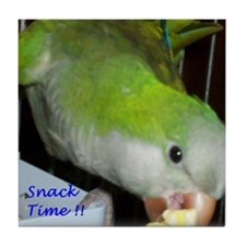 Peter the Quaker Parrot Tile Coaster