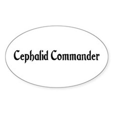 Cephalid Commander Oval Decal