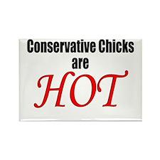 Chicks Hot Rectangle Magnet