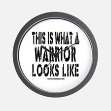 THIS IS WHAT A WARRIOR LOOKS Wall Clock