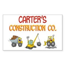 Carter's Construction Tractor Rectangle Decal
