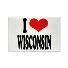 I Love Wisconsin Rectangle Magnet