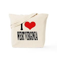 I Love West Virginia Tote Bag