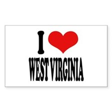 I Love West Virginia Rectangle Decal