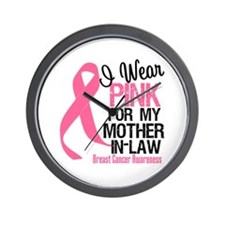 I Wear Pink Mother-in-Law Wall Clock
