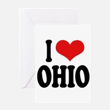 I Love Ohio Greeting Card